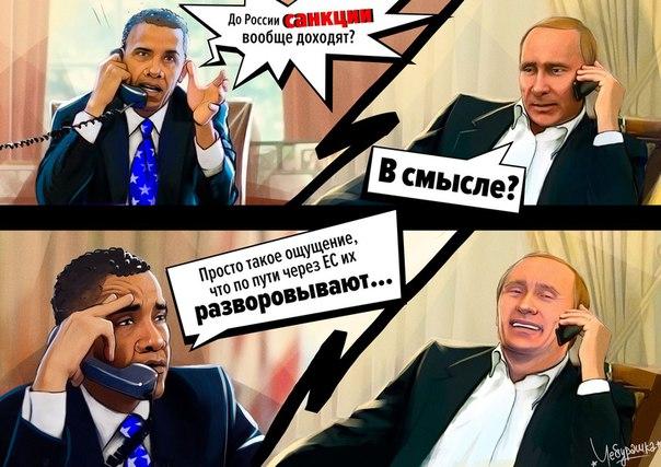 До России санкции не доходят - их разворовывают!