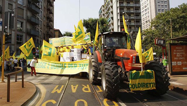 В Италии митинг об отмене санкций против России
