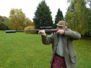 Глушитель на охотничьем карабине