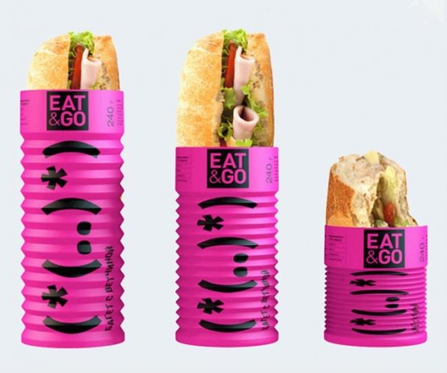 Складывающаяся упаковка для бутербродов