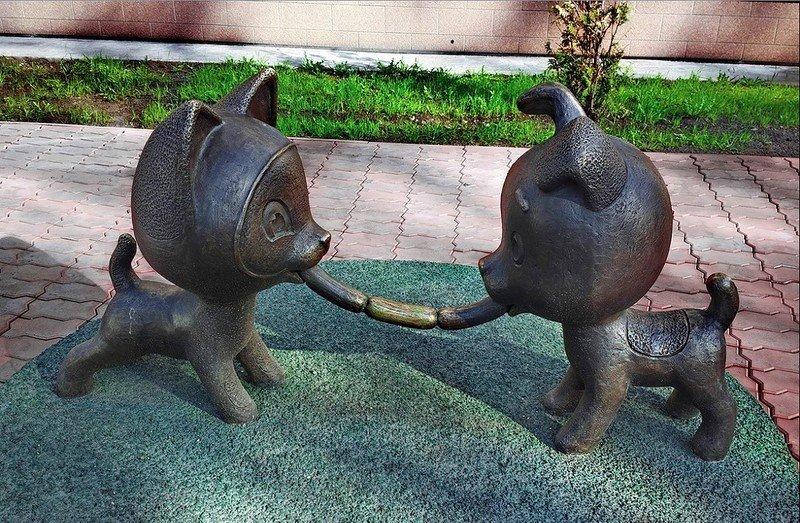 Скульптура Котёнок Гав